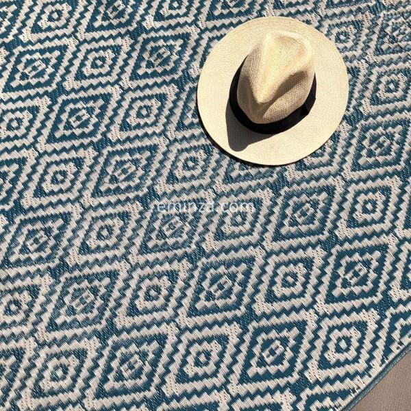 tapis d 39 ext rieur 120 x 180 cm aquatika bleu textile d. Black Bedroom Furniture Sets. Home Design Ideas