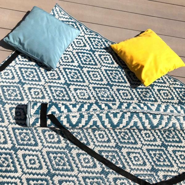 tapis dextrieur 160 x 260 cm aquatika bleu - Tapis Exterieur