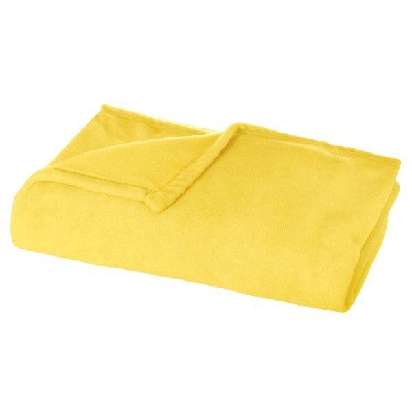 plaid doux 150 cm tie dye jaune plaid et jet eminza. Black Bedroom Furniture Sets. Home Design Ideas