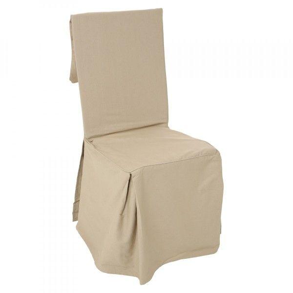 Housse de canap chaise ecru eminza - Housse de chaise beige ...