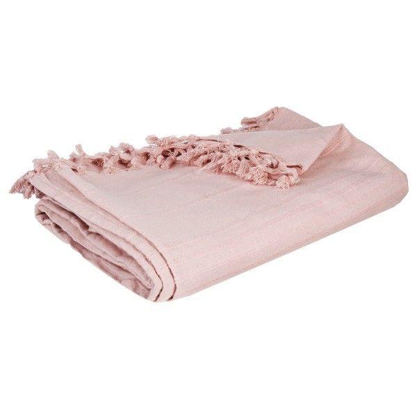 jet de canap 220 cm romance rose poudr d co textile. Black Bedroom Furniture Sets. Home Design Ideas