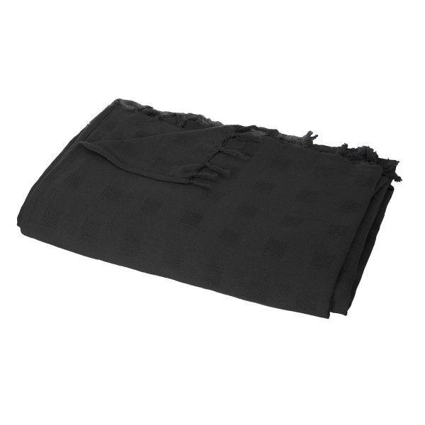 jet de canap 220 cm carr noir d co textile eminza. Black Bedroom Furniture Sets. Home Design Ideas