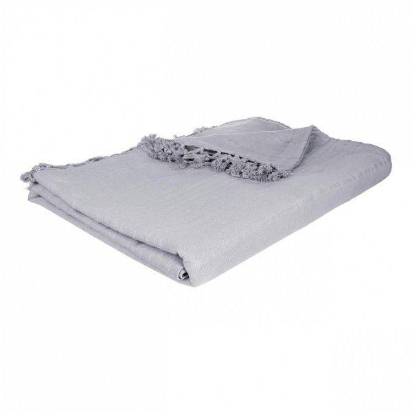 Jete De Canape 250 Cm Romance Gris Clair Deco Textile Eminza
