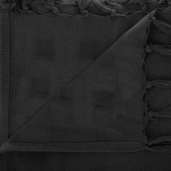 jet de canap 250 cm carr noir d co textile eminza. Black Bedroom Furniture Sets. Home Design Ideas