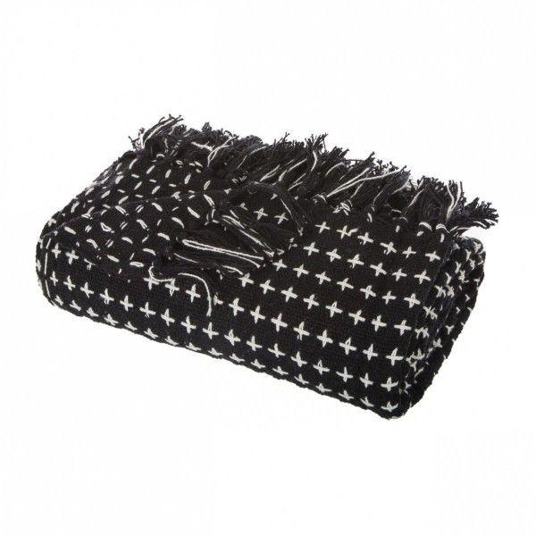 jet de canap noir plaid et jet eminza. Black Bedroom Furniture Sets. Home Design Ideas