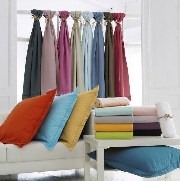 taie d 39 oreiller rectangulaire coton sup rieur f licie orange citrouille linge de lit eminza. Black Bedroom Furniture Sets. Home Design Ideas
