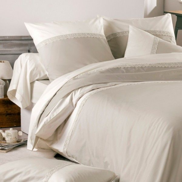 taie de traversin percale de coton l190 cm idylle beige coquille linge de lit eminza. Black Bedroom Furniture Sets. Home Design Ideas