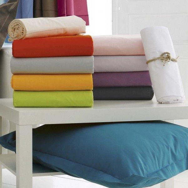drap housse coton sup rieur 160 x h40 cm f licie blanc linge de lit eminza. Black Bedroom Furniture Sets. Home Design Ideas