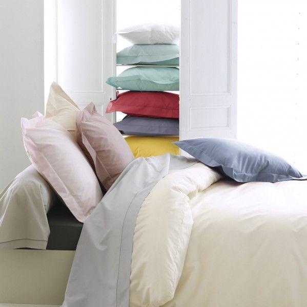 drap housse percale de coton 140 cm louise ecru coquille drap housse eminza. Black Bedroom Furniture Sets. Home Design Ideas