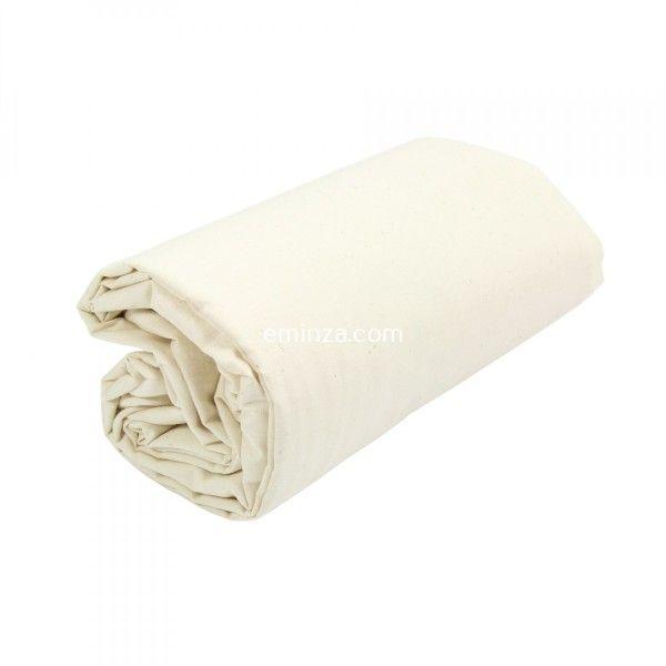 Drap housse coton supérieur (200 cm) Félicie Ecru   Linge de lit