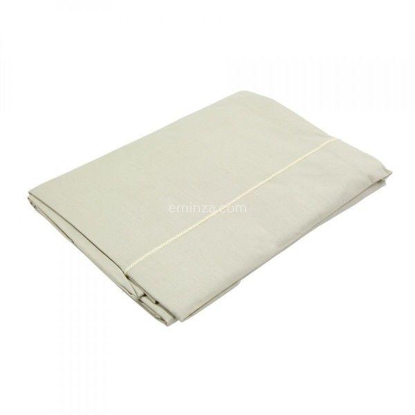 drap plat coton sup rieur 270 cm f licie lin seigle linge de lit eminza. Black Bedroom Furniture Sets. Home Design Ideas