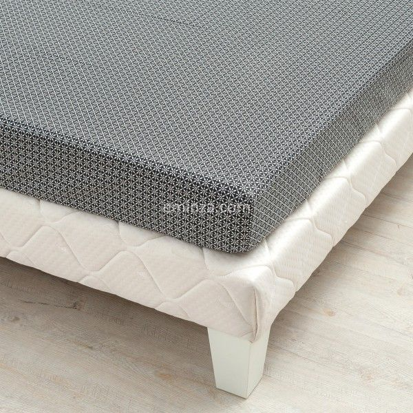 drap housse satin de coton 140 cm wesley noir linge de lit eminza. Black Bedroom Furniture Sets. Home Design Ideas