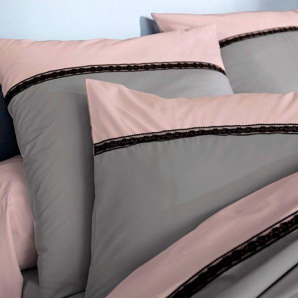 housse de couette percale de coton 240 cm passion gris anthracite linge de lit eminza. Black Bedroom Furniture Sets. Home Design Ideas