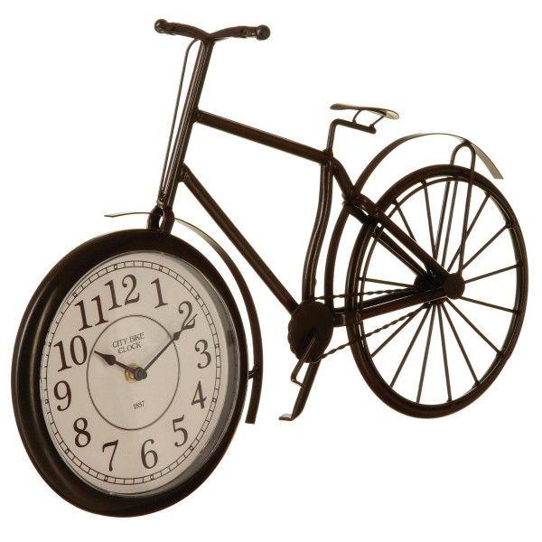horloge poser velo noir statuette et objet d co eminza. Black Bedroom Furniture Sets. Home Design Ideas