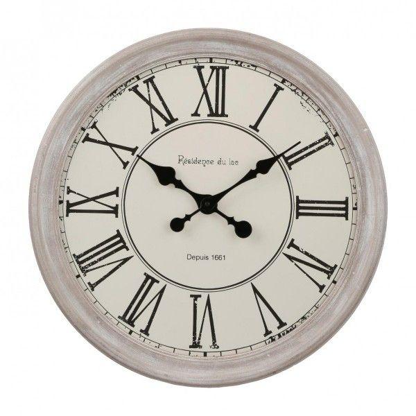 93d00f386f5bb Horloge Originel Blanc - Décoration Murale - Eminza