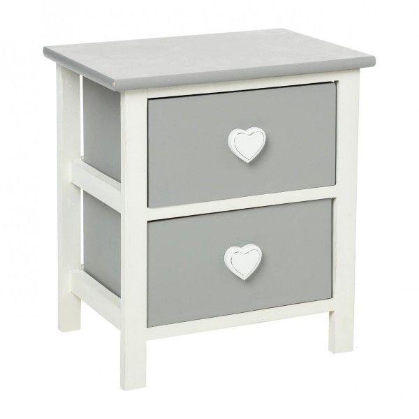 table de chevet leonce blanc table de chevet eminza. Black Bedroom Furniture Sets. Home Design Ideas