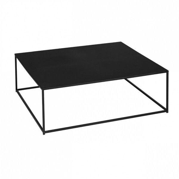 table basse carr e gota noir table eminza. Black Bedroom Furniture Sets. Home Design Ideas