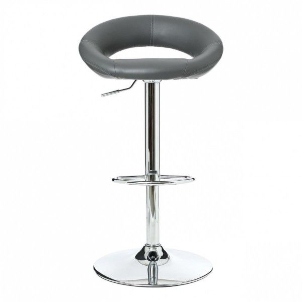 lot de 2 tabourets de bar sasha gris chaise et tabouret eminza. Black Bedroom Furniture Sets. Home Design Ideas
