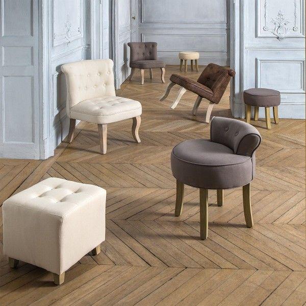 Lot de 2 fauteuils effet Velours Calixte Noir Moyen Modèle - Canapé ...