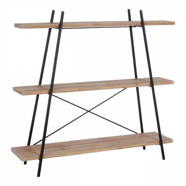 etag re torof noir bois 3 tag res meuble de salon eminza. Black Bedroom Furniture Sets. Home Design Ideas