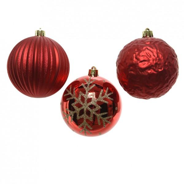 Boule Decoration.Lot De 3 Boules De Noël Yoshi Rouge