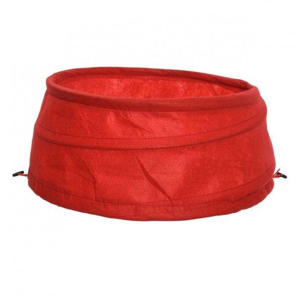 cache pied de sapin en jute rouge sapin et arbre artificiel eminza. Black Bedroom Furniture Sets. Home Design Ideas