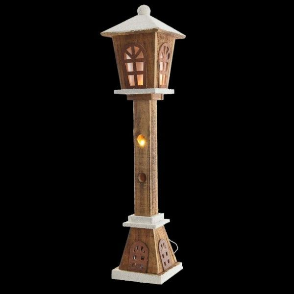 lampadaire illumin enneig d co de no l pour la maison. Black Bedroom Furniture Sets. Home Design Ideas