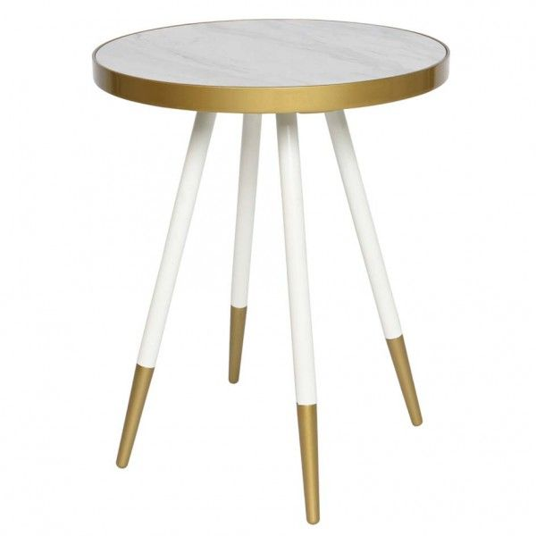 Table d'appoint Daisy Blanc
