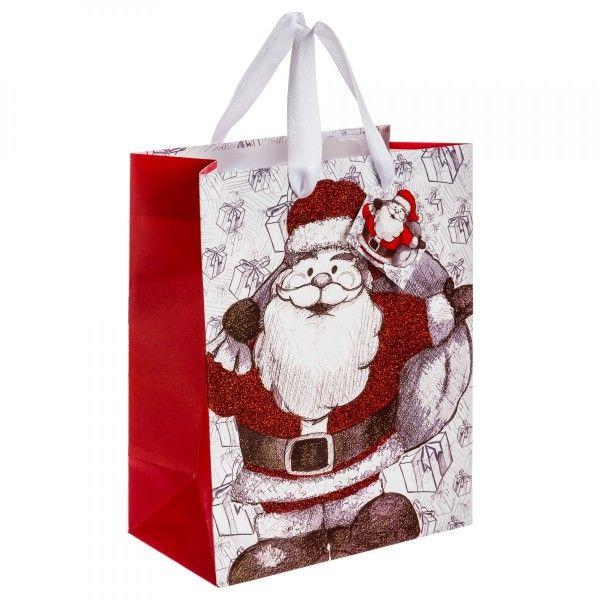 sac cadeau h23 cm p re no l remy rouge loisirs cr atifs eminza. Black Bedroom Furniture Sets. Home Design Ideas
