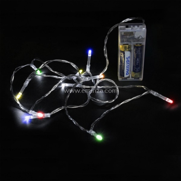 Guirlande lumineuse 1 m Multicolore 10 LED