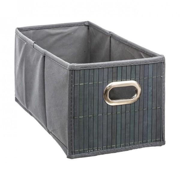 panier de rangement bamboon gris petit mod le meuble de rangement eminza. Black Bedroom Furniture Sets. Home Design Ideas