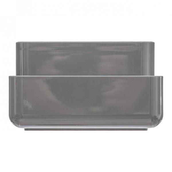 Boite de rangement baltik gris accessoire salle de bain eminza - Accessoire salle de bain gris ...