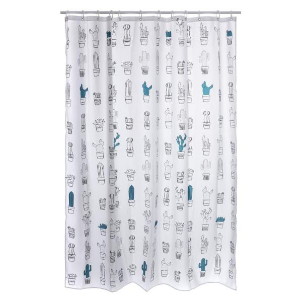 rideau de douche 200 cm saguaro blanc accessoire douche baignoire eminza. Black Bedroom Furniture Sets. Home Design Ideas