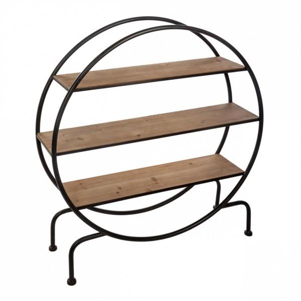 etag re ronde yara noir meuble de salon eminza. Black Bedroom Furniture Sets. Home Design Ideas