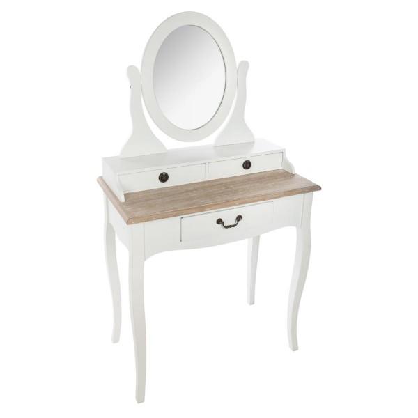coiffeuse chrysa blanc meuble de chambre eminza. Black Bedroom Furniture Sets. Home Design Ideas