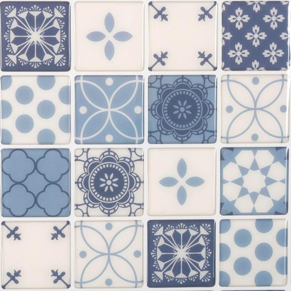 Lot De Planches Stickers Carrelage Bleu Sticker Toile Et Déco - Carrelage bleu
