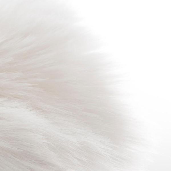 tapis imitation fourrure 90 cm fisher blanc tapis eminza. Black Bedroom Furniture Sets. Home Design Ideas