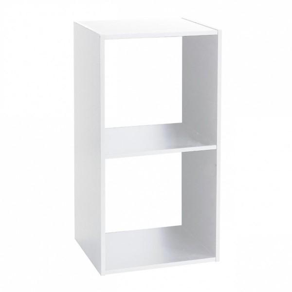 etag re mix 2 cases blanc biblioth que et tag re eminza. Black Bedroom Furniture Sets. Home Design Ideas