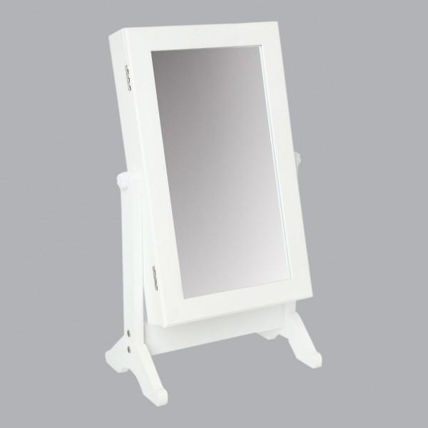 Miroir Range Bijoux Paula Blanc