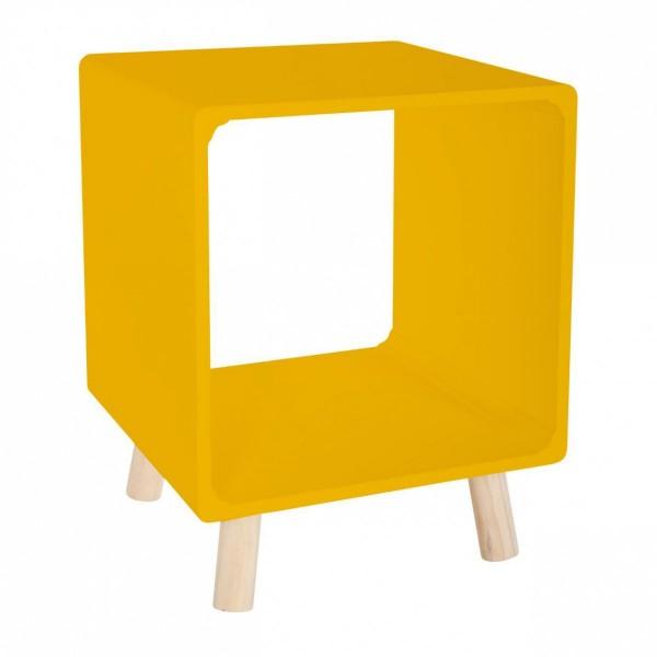 lot de 2 tables de chevet break jaune moutarde table. Black Bedroom Furniture Sets. Home Design Ideas