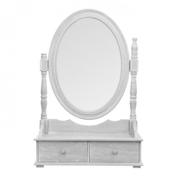 miroir range bijoux eva gris meuble de chambre eminza. Black Bedroom Furniture Sets. Home Design Ideas