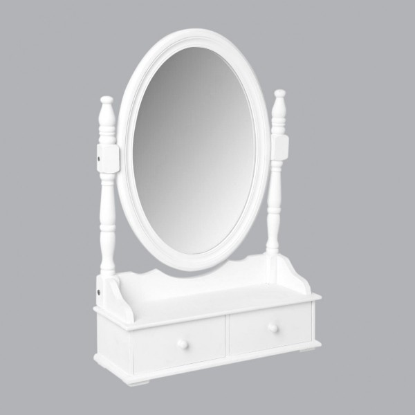 miroir range bijoux eva blanc meuble de chambre eminza. Black Bedroom Furniture Sets. Home Design Ideas