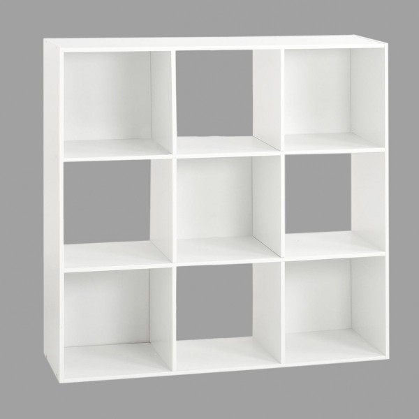 Meuble De Rangement 9 Cases.Etagere Mix 9 Cases Blanche