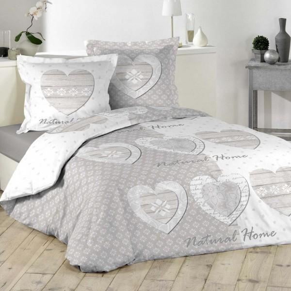 Bettwäsche Aus Baumwolle 200 Cm Natural Home Grau Bettwaren