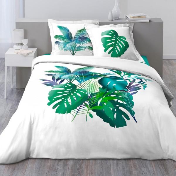 Baumwoll Bettwäsche 200 Cm Hawaii Grün Bettwaren Eminza