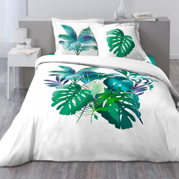 Baumwoll Bettwäsche 240 Cm Hawaii Grün Bettwaren Eminza