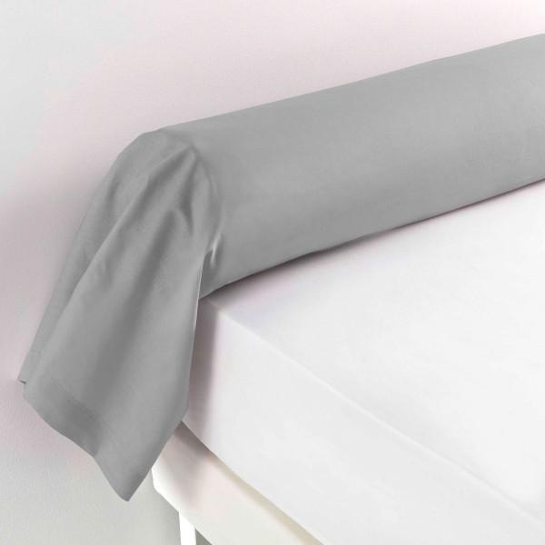 taie de traversin coton l185 cm lina gris galet linge de lit eminza. Black Bedroom Furniture Sets. Home Design Ideas