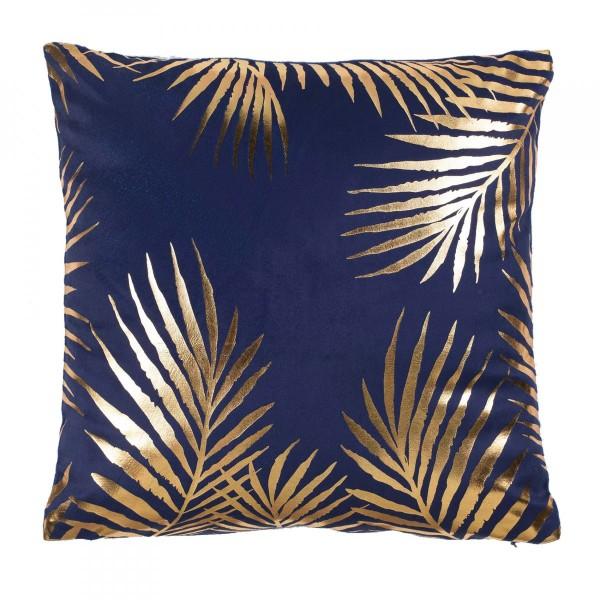 housse de coussin 40 cm palmaor bleu d co textile eminza. Black Bedroom Furniture Sets. Home Design Ideas