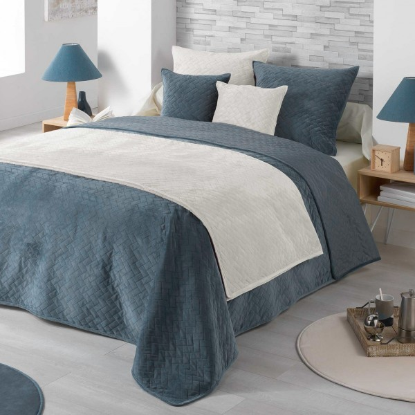 housse de coussin 60 cm bellanda bleu d co textile. Black Bedroom Furniture Sets. Home Design Ideas