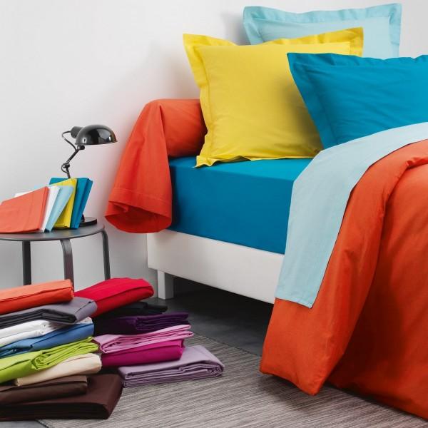 drap housse coton sup rieur 140 cm lina vert sapin linge de lit eminza. Black Bedroom Furniture Sets. Home Design Ideas